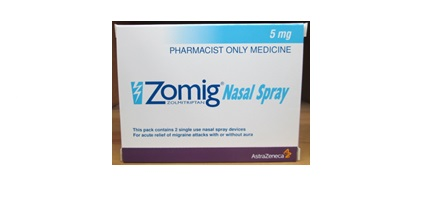 Zolmitriptan spray nasal